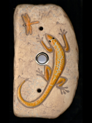 Yellow Lizard Doorbell
