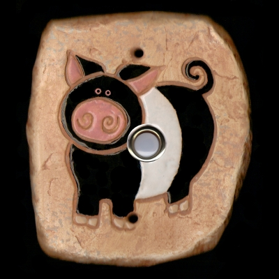 Black & White Pig Doorbell