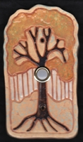 gold tree doorbell